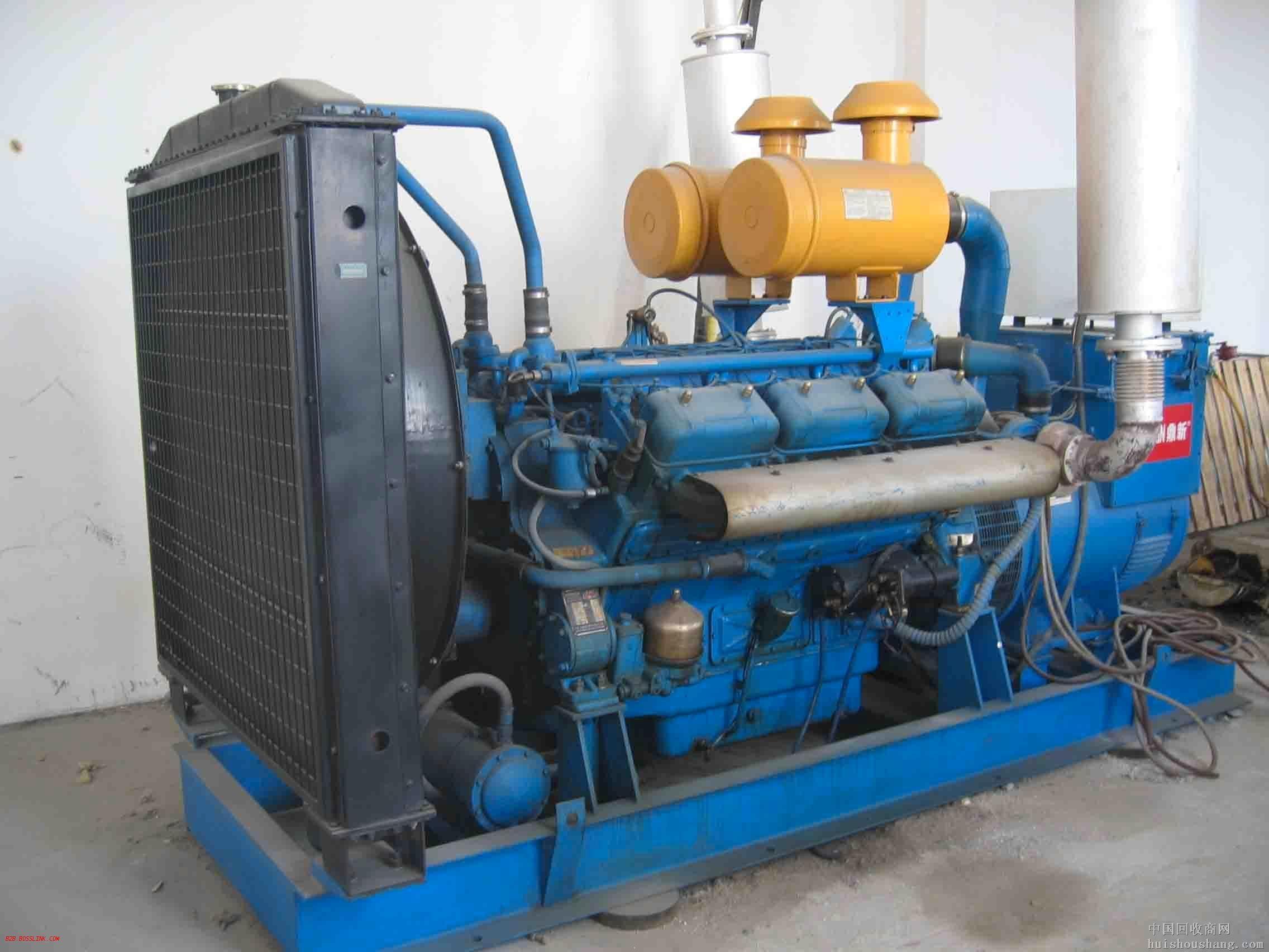 天津蓝色二手发电机出售