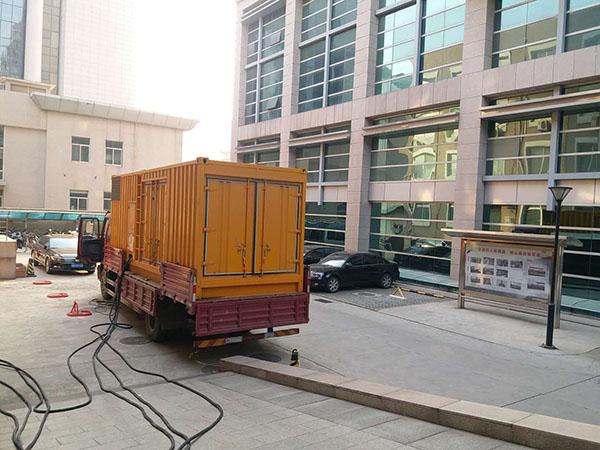 天津北辰县静音发电机出租案列