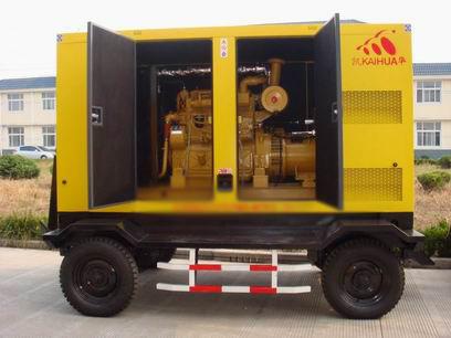 天津应急发电机-300kw移动静音发电机组